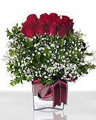 Muğla 14 şubat sevgililer günü çiçek  11 adet gül mika yada cam - anneler günü seçimi -