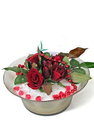 Muğla yurtiçi ve yurtdışı çiçek siparişi  EN ÇOK Sevenlere 7 adet kirmizi gül mika yada cam tanzim