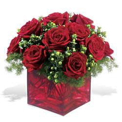 Muğla online çiçek gönderme sipariş  9 adet kirmizi gül cam yada mika vazoda