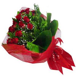 Muğla hediye çiçek yolla  12 adet kirmizi essiz gül buketi - SEVENE ÖZEL