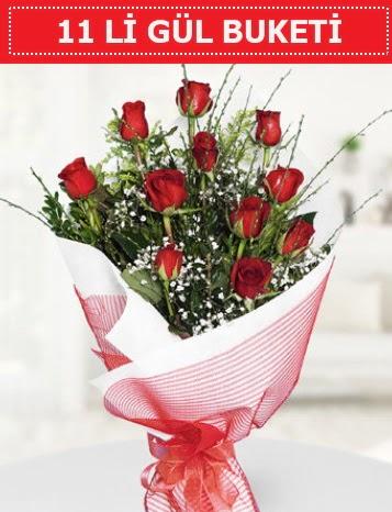 11 adet kırmızı gül buketi Aşk budur  Muğla çiçek siparişi vermek