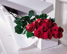 Muğla uluslararası çiçek gönderme  özel kutuda 12 adet gül
