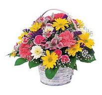 Muğla 14 şubat sevgililer günü çiçek  mevsim çiçekleri sepeti özel