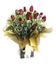 Muğla güvenli kaliteli hızlı çiçek  11 adet kirmizi gül  buketi