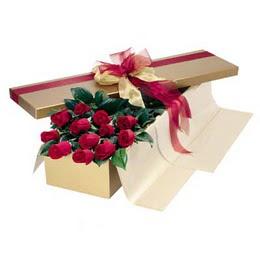 Muğla İnternetten çiçek siparişi  10 adet kutu özel kutu