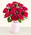 Muğla hediye sevgilime hediye çiçek  10 kirmizi gül cam yada mika vazo tanzim