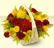 Muğla çiçek yolla  sepette mevsim çiçekleri