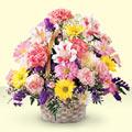 Muğla çiçek gönderme sitemiz güvenlidir  sepet içerisinde gül ve mevsim