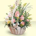 Muğla çiçek yolla  sepette pembe güller