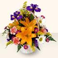 Muğla çiçek yolla  sepet içinde karisik çiçekler