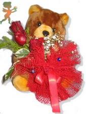 oyuncak ayi ve gül tanzim  Muğla kaliteli taze ve ucuz çiçekler