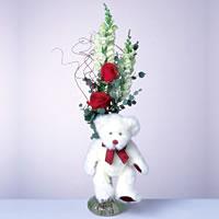 2 adet gül ve panda özel  Muğla çiçek online çiçek siparişi