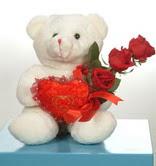 3 adetgül ve oyuncak   Muğla internetten çiçek satışı