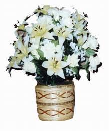 yapay karisik çiçek sepeti   Muğla ucuz çiçek gönder