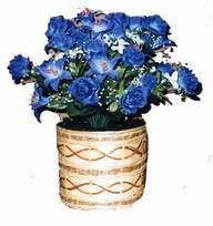 yapay mavi çiçek sepeti  Muğla İnternetten çiçek siparişi