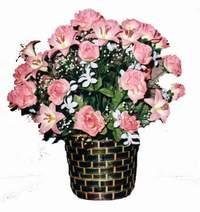 yapay karisik çiçek sepeti  Muğla çiçek satışı
