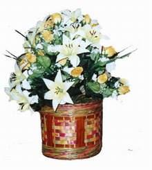 yapay karisik çiçek sepeti   Muğla İnternetten çiçek siparişi
