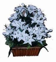 yapay karisik çiçek sepeti   Muğla online çiçekçi , çiçek siparişi