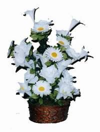 yapay karisik çiçek sepeti  Muğla yurtiçi ve yurtdışı çiçek siparişi