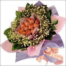 11  adet  gül ve   elyaflar   Muğla çiçek online çiçek siparişi