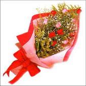 12 adet renkli  gül buketi   Muğla çiçek online çiçek siparişi