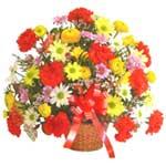 karisik renkli çiçek sepet   Muğla çiçek siparişi vermek