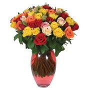 51 adet gül ve kaliteli vazo   Muğla çiçek siparişi vermek