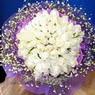 71 adet beyaz gül buketi   Muğla 14 şubat sevgililer günü çiçek
