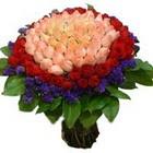71 adet renkli gül buketi   Muğla anneler günü çiçek yolla
