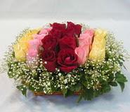 15 adet reprenkli gül sepeti   Muğla online çiçek gönderme sipariş