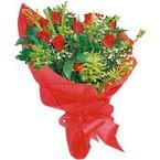 10 adet kirmizi gül buketi  Muğla online çiçek gönderme sipariş