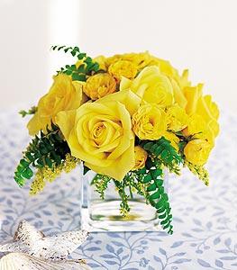 Muğla İnternetten çiçek siparişi  cam içerisinde 12 adet sari gül