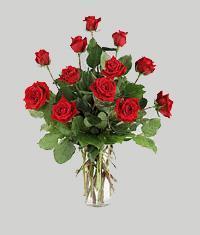 Muğla İnternetten çiçek siparişi  11 adet kirmizi gül vazo halinde
