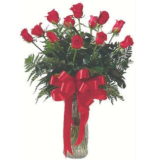 12 adet gül cam içerisinde  Muğla İnternetten çiçek siparişi