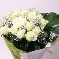 Muğla hediye sevgilime hediye çiçek  11 adet sade beyaz gül buketi