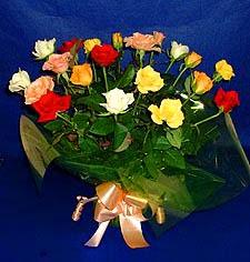 Muğla hediye sevgilime hediye çiçek  13 adet karisik renkli güller