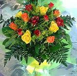 13 adet karisik gül buketi demeti   Muğla çiçek gönderme sitemiz güvenlidir