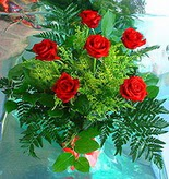 6 adet kirmizi gül buketi   Muğla online çiçekçi , çiçek siparişi