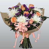 güller ve kir çiçekleri demeti   Muğla kaliteli taze ve ucuz çiçekler