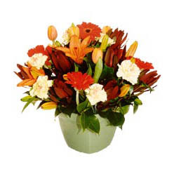 mevsim çiçeklerinden karma aranjman  Muğla çiçekçiler