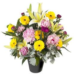 karisik mevsim çiçeklerinden vazo tanzimi  Muğla çiçek gönderme sitemiz güvenlidir