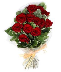Muğla çiçekçiler  9 lu kirmizi gül buketi.