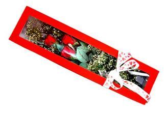 Muğla hediye sevgilime hediye çiçek  Kutuda 3 adet gül