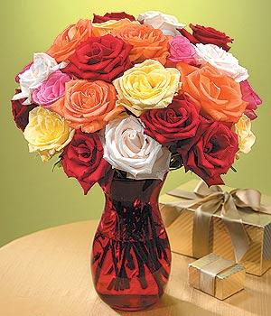 Muğla çiçek gönderme  13 adet renkli gül