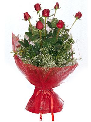 Muğla çiçek , çiçekçi , çiçekçilik  7 adet gülden buket görsel sik sadelik