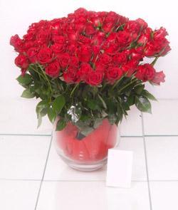 Muğla çiçek yolla , çiçek gönder , çiçekçi   101 adet kirmizi gül