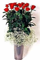 Muğla çiçek yolla , çiçek gönder , çiçekçi   9 adet kirmizi gül cam yada mika vazoda