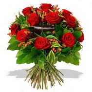 9 adet kirmizi gül ve kir çiçekleri  Muğla çiçek mağazası , çiçekçi adresleri