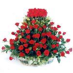 Muğla hediye çiçek yolla  41 adet kirmizi gülden sepet tanzimi