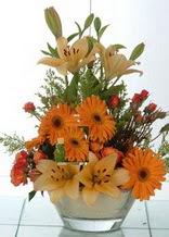 Muğla çiçek , çiçekçi , çiçekçilik  cam yada mika vazo içinde karisik mevsim çiçekleri